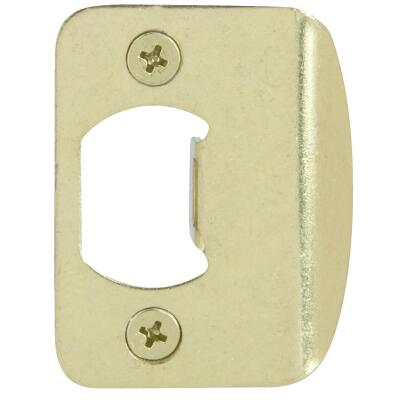 Kwikset Polished Brass Radius Strike Plate