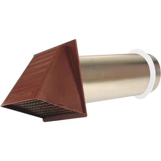 Dundas Jafine Maxi-Flow 4 In. Brown Plastic Dryer Vent Hood