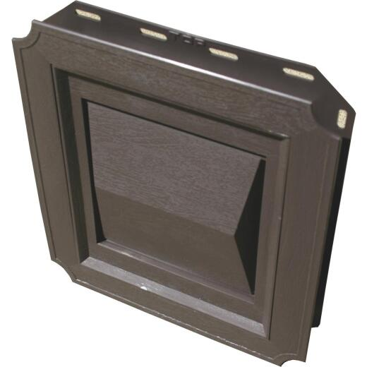 Builder's Best 4 In. Brown Plastic J-Block Dryer Vent Hood