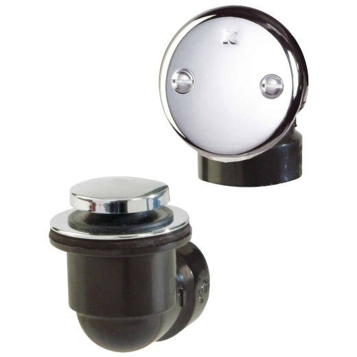 Do it Schedule 40 ABS Bathtub Drain Stopper with Polished Chrome Foot Lok Stop