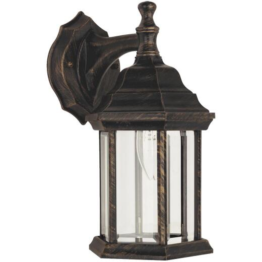 Home Impressions Antique Black w/Gold Highlights Incandescent Type A Outdoor Wall Light Fixture
