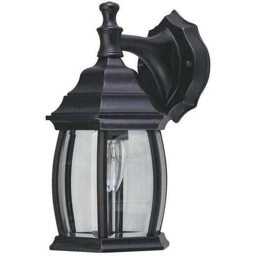 Home Impressions Black Incandescent Type A Outdoor Wall Light Fixture
