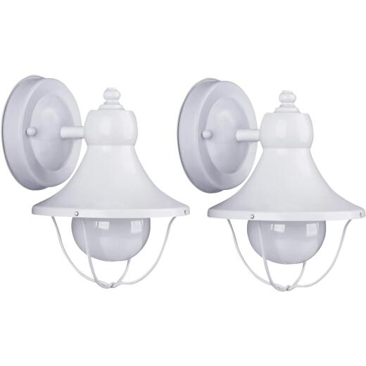 Home Impressions White Incandescent Type G Outdoor Wall Light Fixture