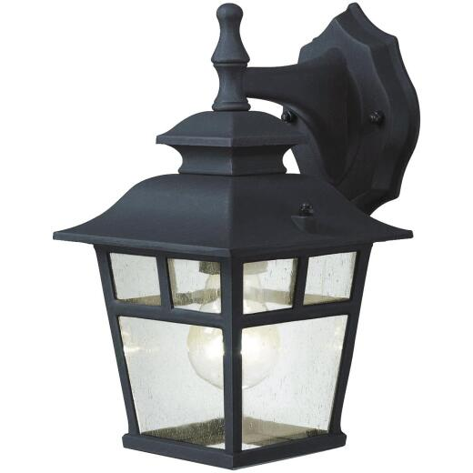 Home Impressions Fieldhouse Black Outdoor Wall Light Fixture, (2-Pack)