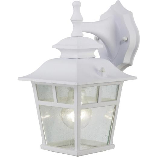 Home Impressions Fieldhouse White Outdoor Wall Light Fixture, (2-Pack)