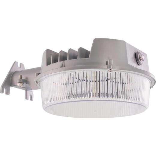 Halo Gray Dusk To Dawn LED Basic Outdoor Area Light Fixture, 7000 Lm.