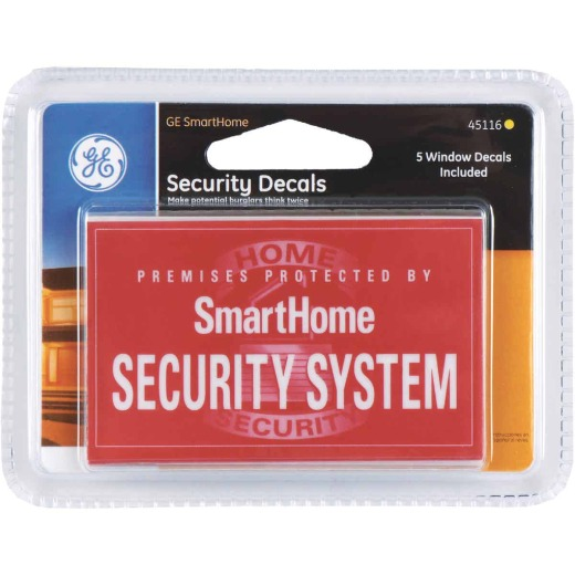 GE Mount to Window Security Alarm Stickers (5-Pack)