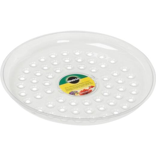 Miracle-Gro 10 In. Clear Plastic Flower Pot Saucer
