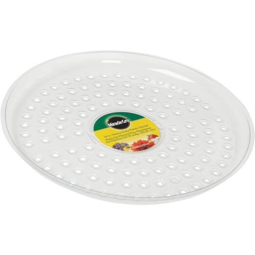 Miracle-Gro 14 In. Clear Plastic Flower Pot Saucer