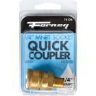 Forney 1/4 In. Male Quick Coupler Pressure Washer Socket Image 2