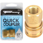 Forney 1/4 In. Female Quick Coupler Pressure Washer Socket Image 1