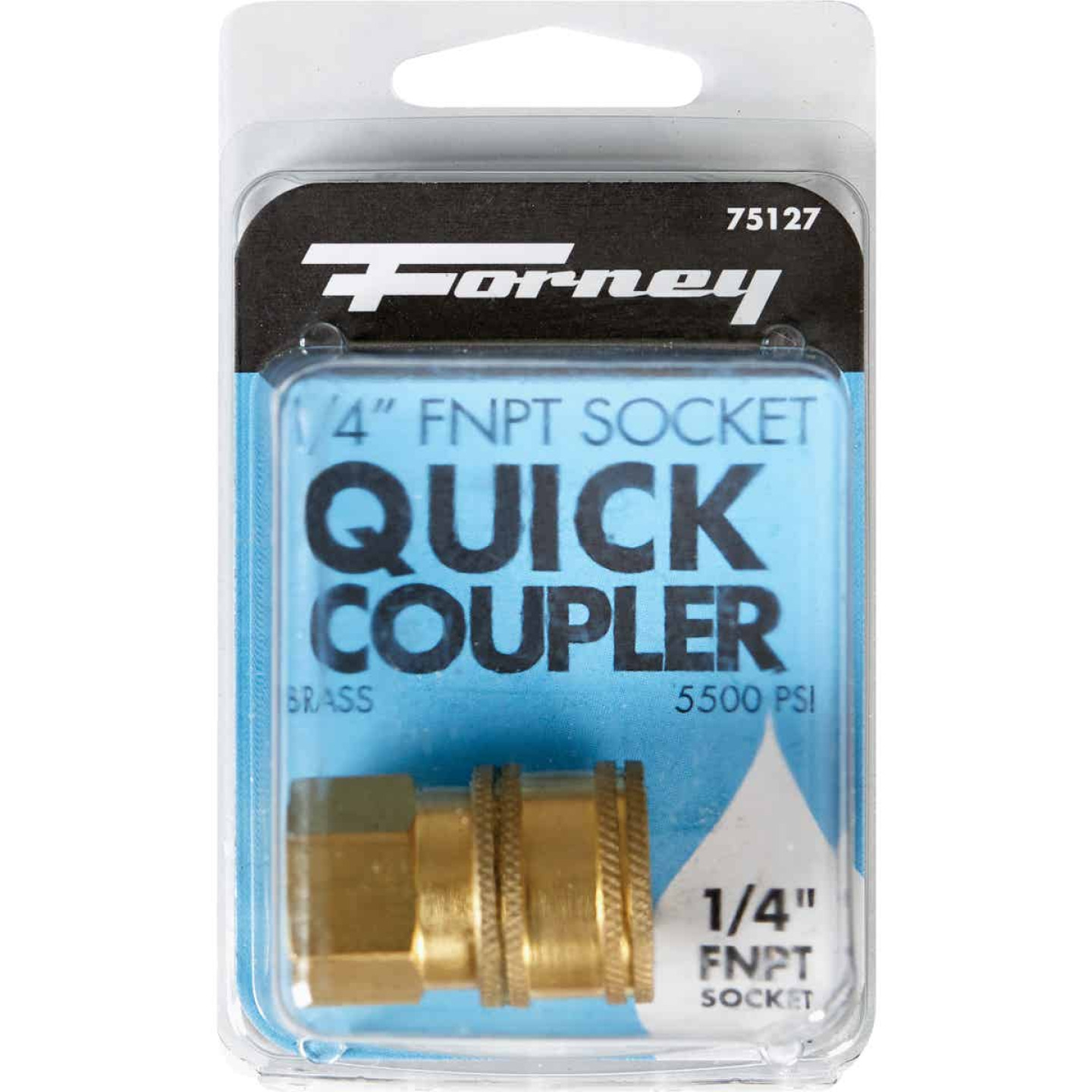 Forney 1/4 In. Female Quick Coupler Pressure Washer Socket Image 2