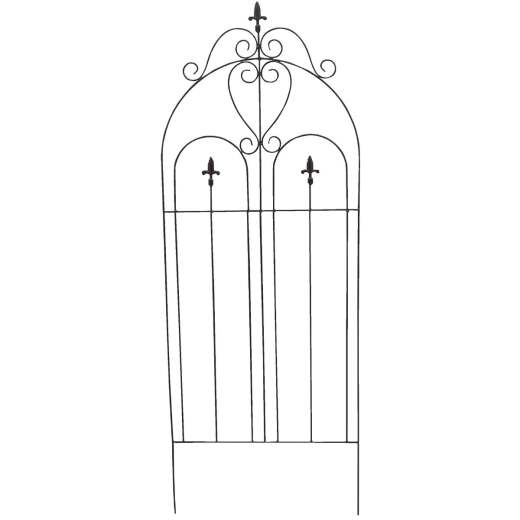 Best Garden Metal Cathedral Black Trellis