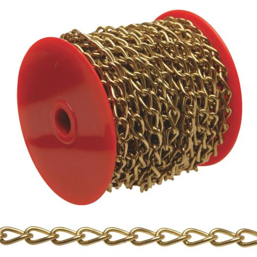 Campbell #90 82 Ft. Nickel-Plated Metal Craft Chain