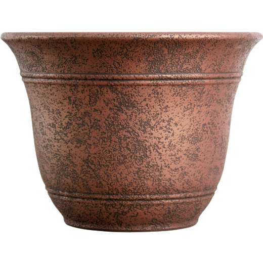 Listo Sierra 11-3/4 In. H. x 16 In. Dia. Rustic Redstone Poly Flower Pot