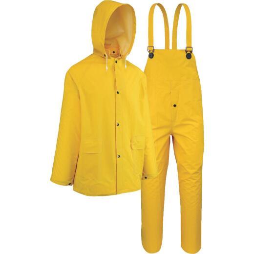 West Chester 2XL 3-Piece Yellow PVC Rain Suit
