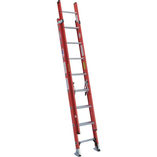 Werner 16 Ft. Fiberglass Extension Ladder with 300 Lb. Load Capacity Type IA Duty Rating