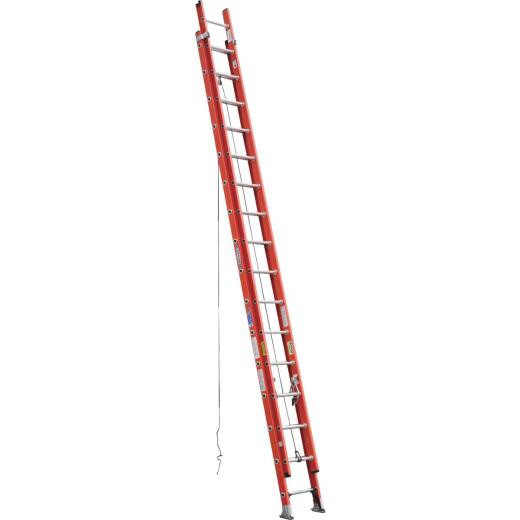 Werner 32 Ft. Fiberglass Extension Ladder with 300 Lb. Load Capacity Type IA Duty Rating
