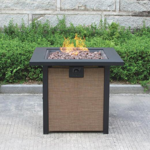 Bond Woodleaf 28 In. Square Steel Gas Fire Pit